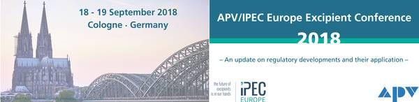 APV/IPEC Europe Excipient Conference 2018