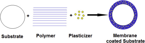 Picture of structure elements of Membrane coated Substrate