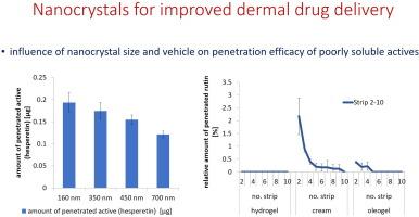 Analysis results concerning nanocrystals for improved dermal drug delivery