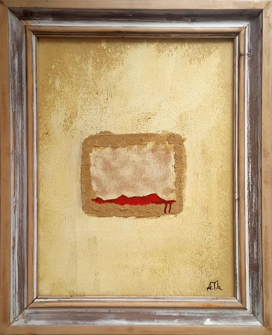 Roter Impuls | 52 x 66 cm | Holzrahmung