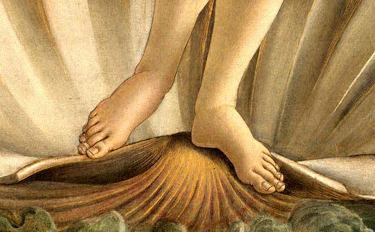 """Sandro Botticelli, """"Nascita di Venere"""", particolare, 1482–1485 circa (Firenze, Galleria degli Uffizi)"""