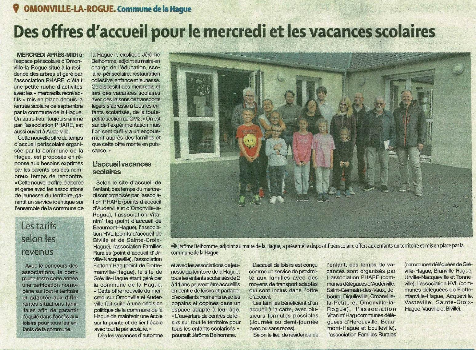 Mercredis Récré'Actifs d'Omonville la Rogue et d'Auderville Presse de la Manche