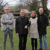 v.l.n.r. Reinhard Beckord, Hans-Hermann Strandt, Wendy Godt, Volker Kathöfer