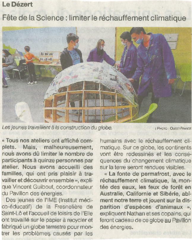 Article Ouest France 7/10/20