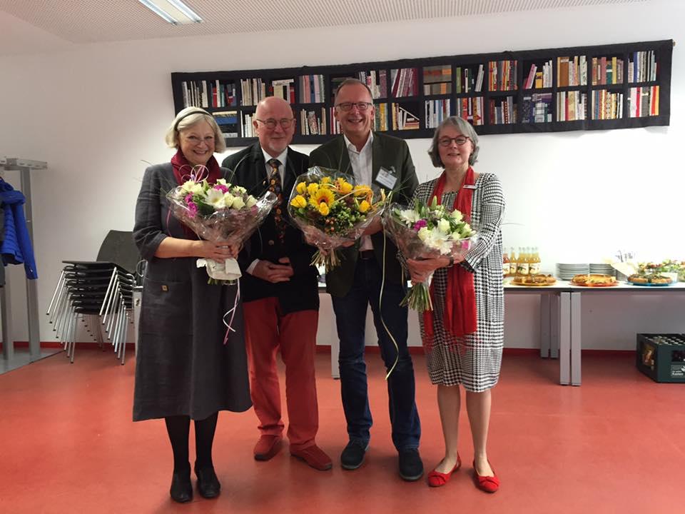 (v.l.n.r.) Brigitte Schäfers, Dr. Volker Pirsich, Peter Lengwenings, Evelyn Buchholtz