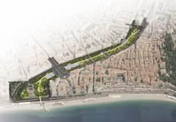 """""""coulée"""" verte au sein d'une ville permettant la circulation de la faune sauvage au sein de la matrice urbaine"""