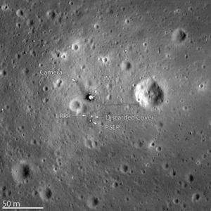Fotografierte Apollo 11 Landestelle[12]