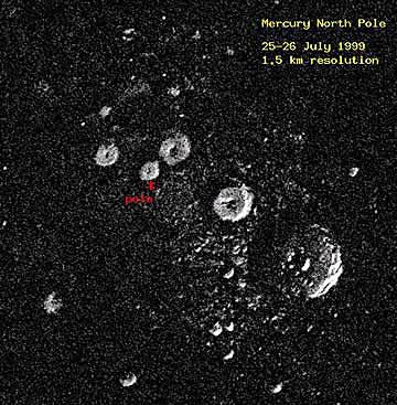 Radarbild der Nordpolarregion
