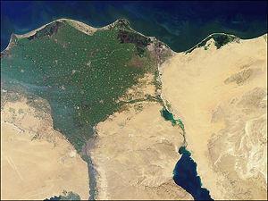 Das Nildelta stellt das Mündungsdelta des afrikanischen Nils dar.