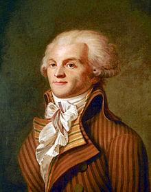 Anonymes Porträt von M. de Robespierre, um 1793