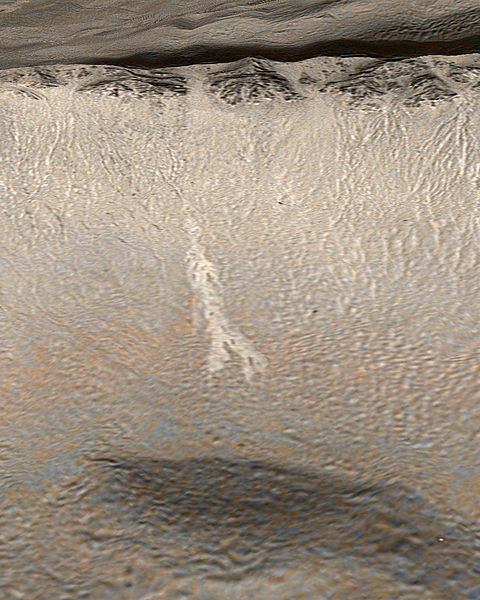 Beobachtete Veränderungen könnten Anzeichen für fließendes Wasser innerhalb der letzten Jahre sein.[19]