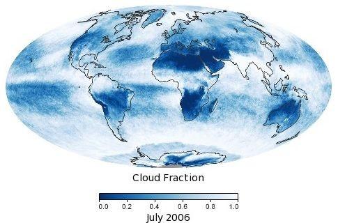 Wolkenbedeckungsgrad im Juli 2006