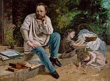 Pierre-Joseph Proudhon et ses enfants (Übersetzt: Pierre-Joseph Proudhon und seine Kinder), Gemälde von Gustave Courbet, 1865