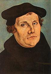 Martin Luther, Porträt von Lucas Cranach d.Ä., 1529