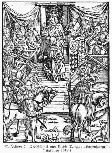Abnahme des Lehnseides (1512)