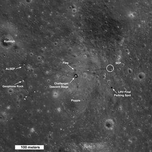 Fotografierte Apollo 17 Landestelle