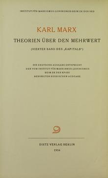 Karl Marx, Theorien über den Mehrwert, 1956