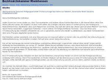 Warnung der Ärztekammer Mainz
