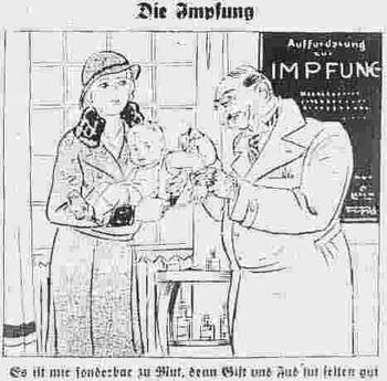 """Hetzartikel gegen das Impfen aus """"Der Stürmer"""""""