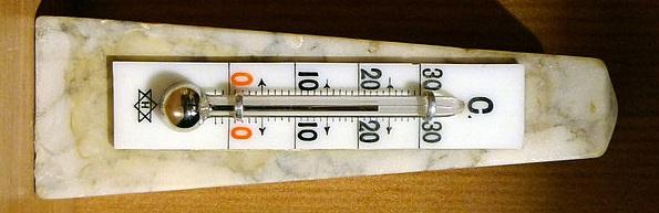 Ein Quecksilberthermometer