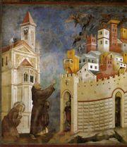 Exorzismus durch den heiligen Franziskus in Arezzo, Gemälde von Giotto