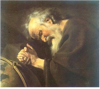 Heraklit, Gemälde von Johan Moreelse (1602–1634)