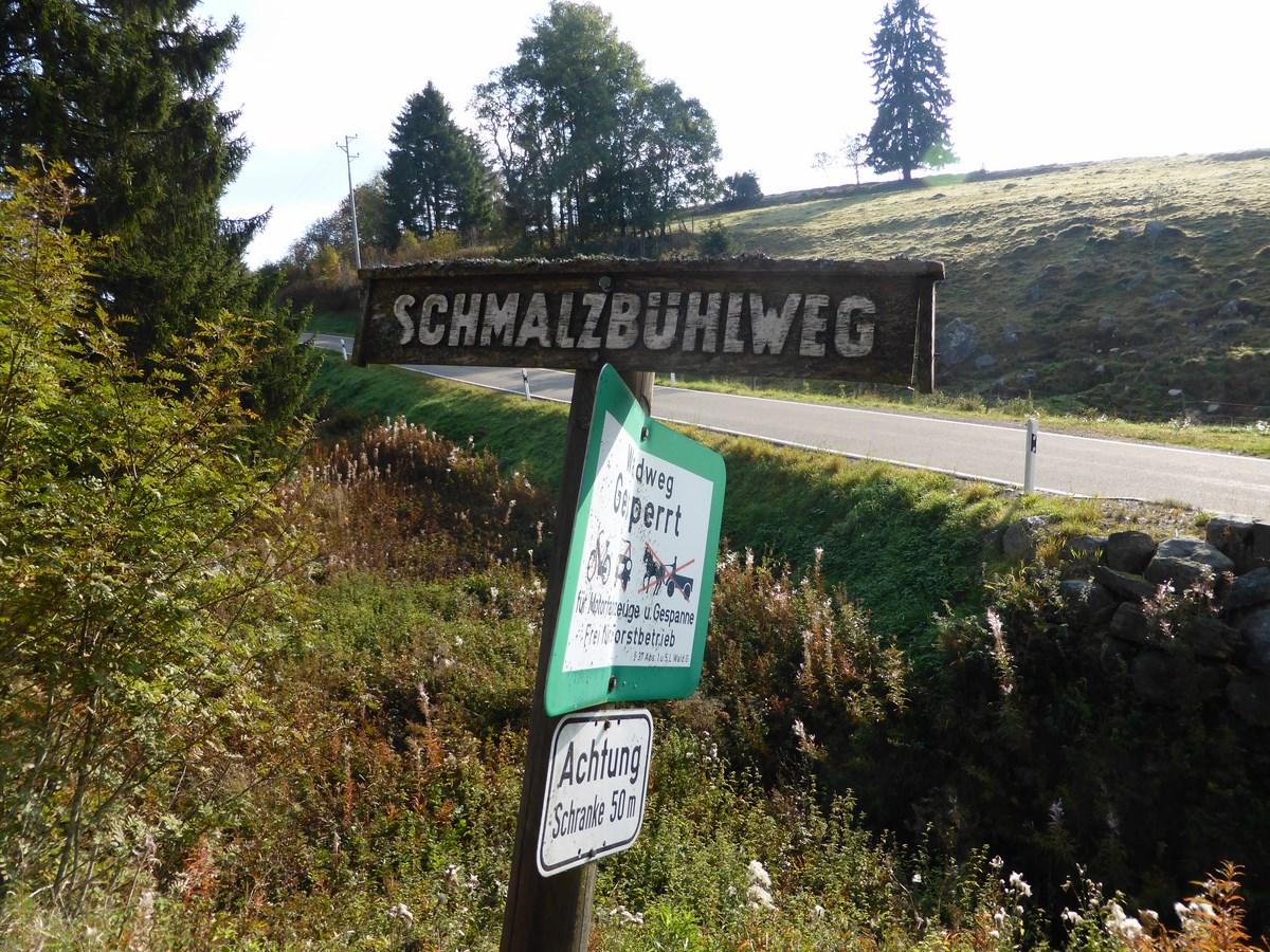 Zugang zum Schmalzbühlweg © Hartmut Hermanns