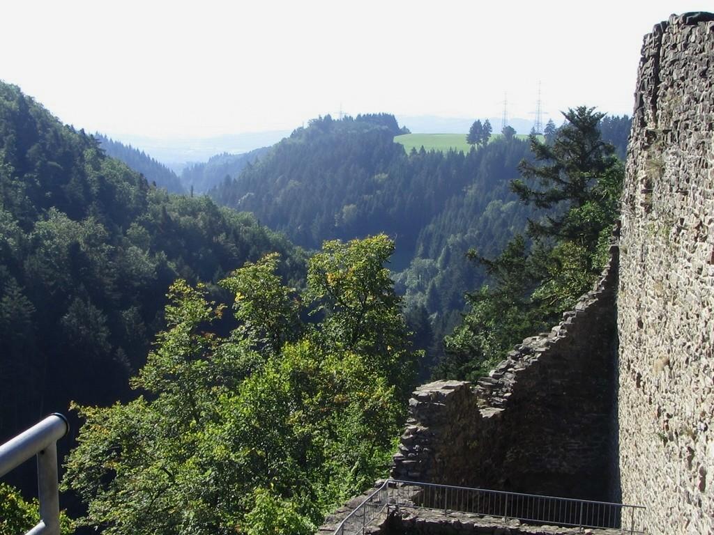 Blick von der Burg nach S ins Murgtal © Hartmut Hermanns