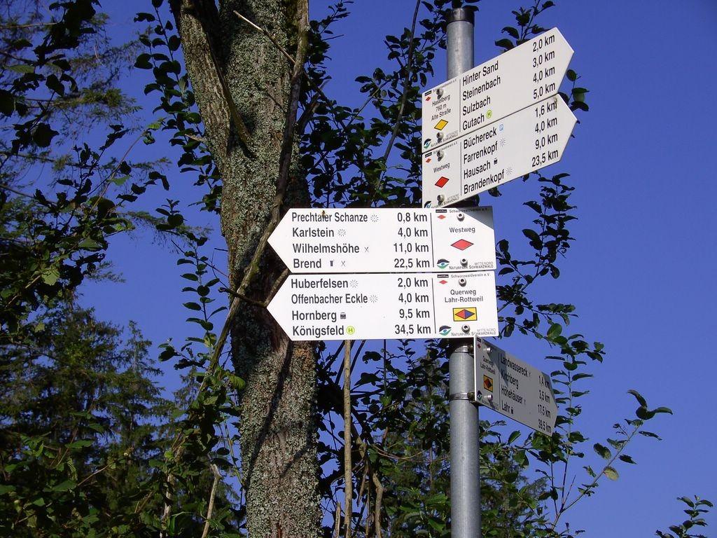 Kreuzung mit dem Westweg    © Hartmut Hermanns