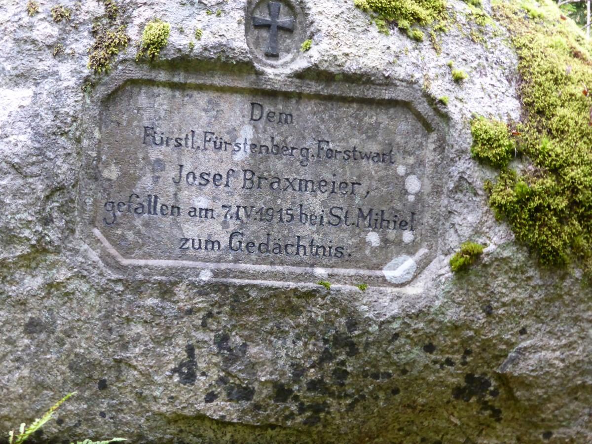 Inschrift auf dem Braxmeierstein © Hartmut Hermanns