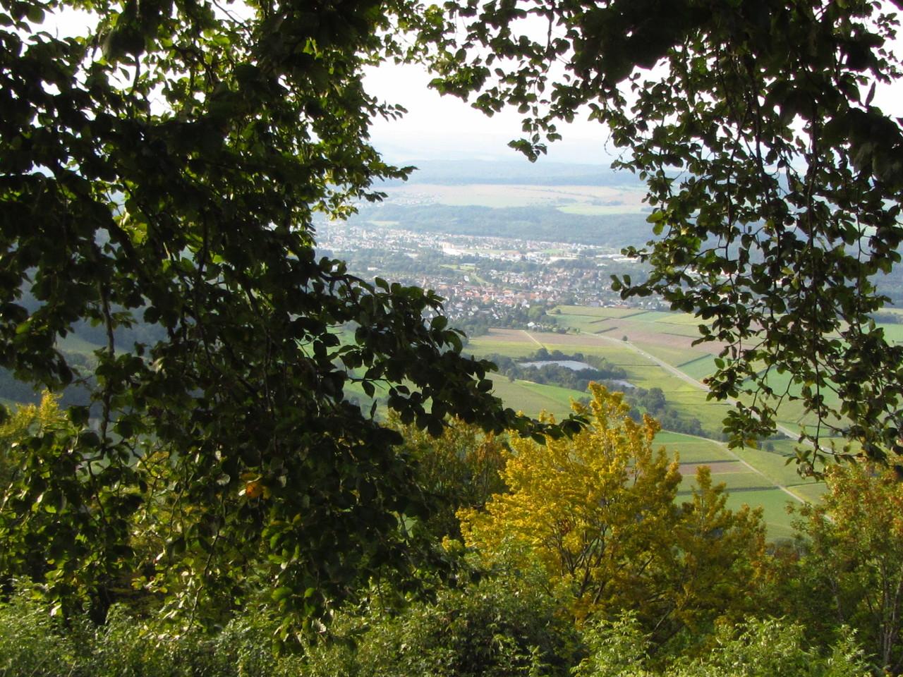 Blick von der Küssaburg nach Lauchringen (Klettgau)  © Hartmut Hermanns