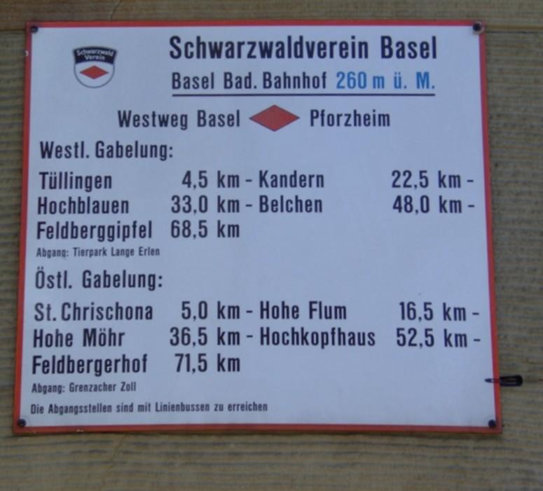 Startpunkt am Badischen Bahnhof - Orientierung