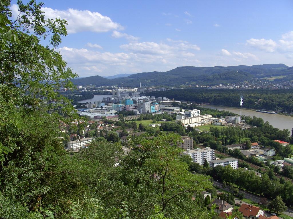 Blick vom Hornfelsen auf Grenzach   © Hartmut Hermanns