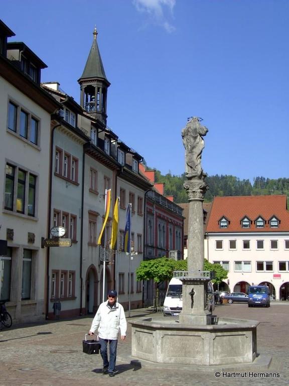 Marktplatz in Waldkirch  © Hartmut Hermanns
