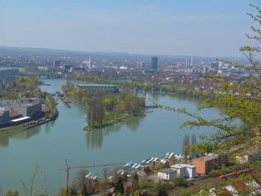 Basel und der Rhein vom Hornfelsen
