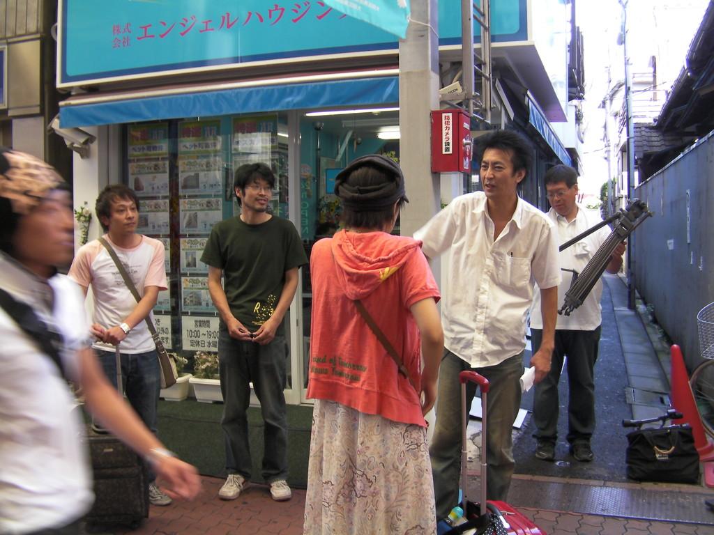 2010年9月3日 雑色商店街にて