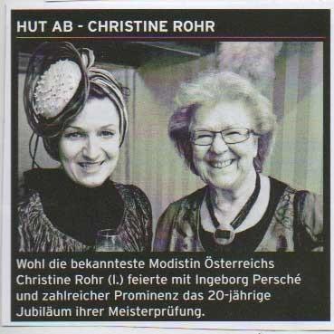 HUT AB! CHRISTINE ROHR - Grazzeta