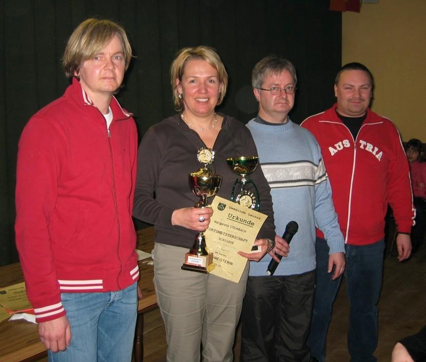 Die Ortsmeisterin 2006 Margerete Steinbach