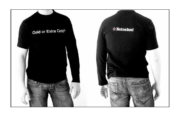 Cold or Extra Cold. Das passende T-shirt für die Einführung des Extra-Cold Heineken Biers.