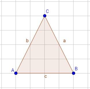 Beispiel für Achsensymmetrie bei einem gleichschenkligem Dreieck