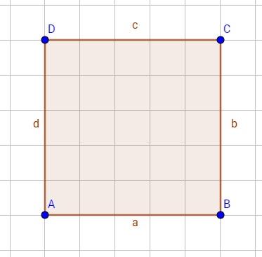 Ein punktsymmetrisches Quadrat