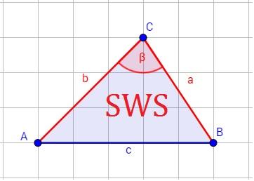 Beispiel für den Kongruenzsatz SWS (Seite Winkel Seite)