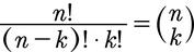 Die Formel für den Binomialkoeffizienten