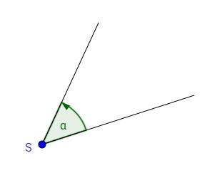 Darstellung eines Winkels mit Beschriftung