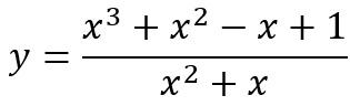 Beispiel einer gebrochenrationalen Funktion
