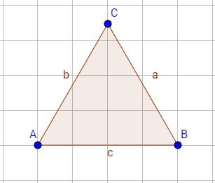 Beispiel für ein spitzwinkliges Dreieck