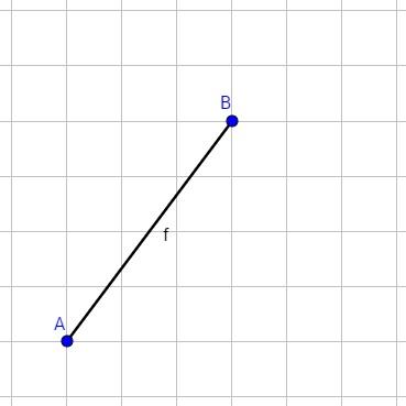 Beispiel für eine Strecke im Koordinatensystem
