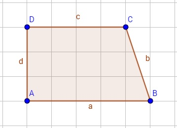 Beispiel für ein rechtwinkliges Trapez