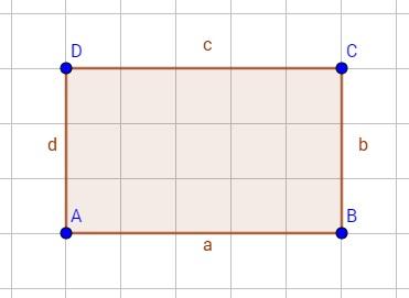 Ein Rechteck, welches punktsymmetrisch ist