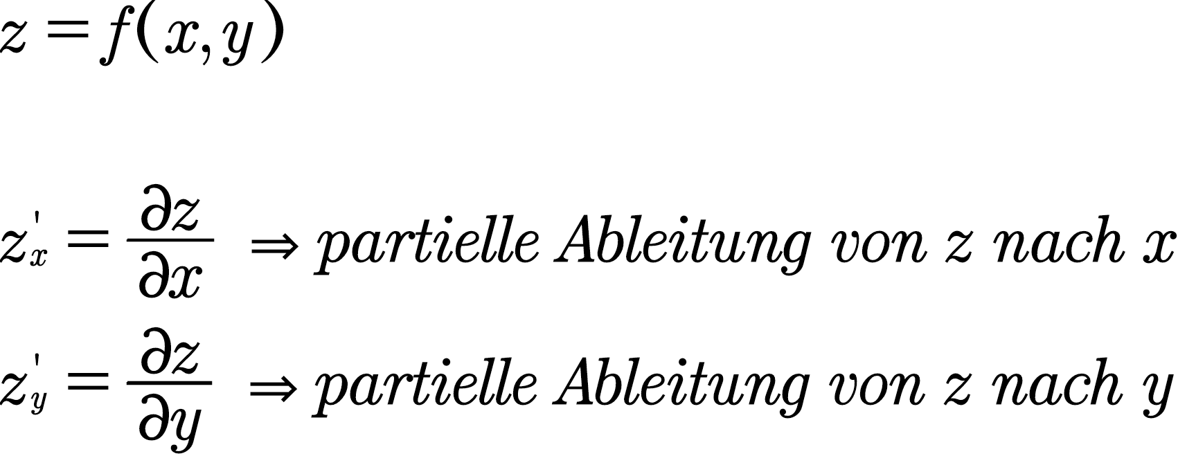 Partielle Ableitung - Studimup.de